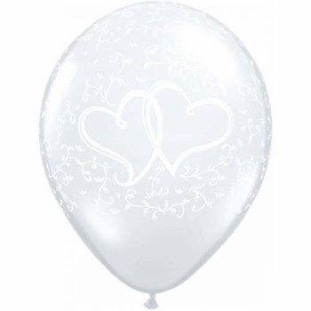 Ballonnen Entwined Hearts Clear