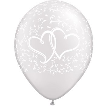 Ballonnen Entwined Hearts White