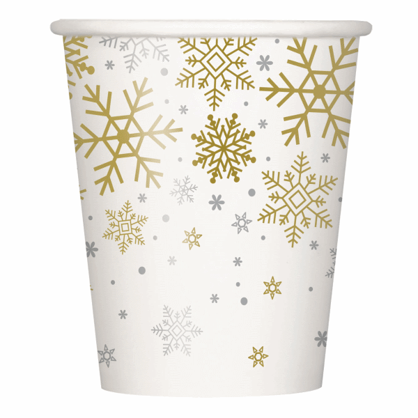 Bekers Silver & Gold Snowflakes