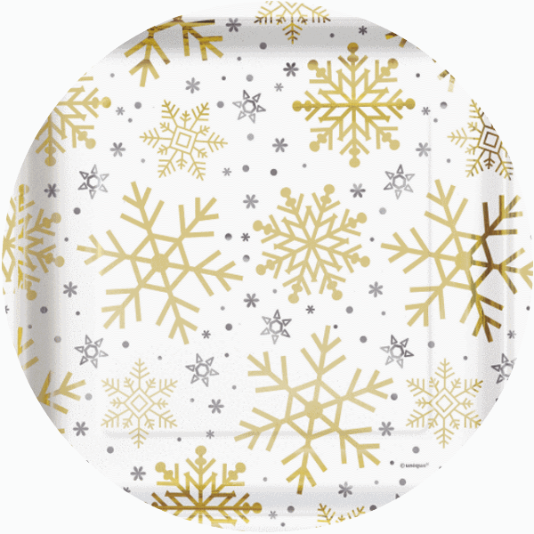Silver & Gold Snowflakes