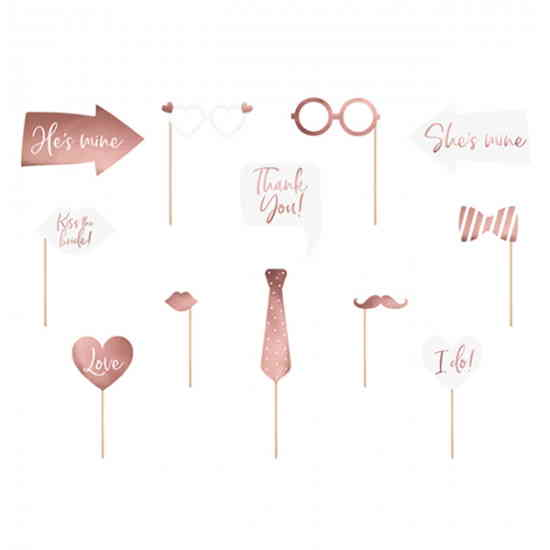 Photobooth props Wedding Rose Gold-23421